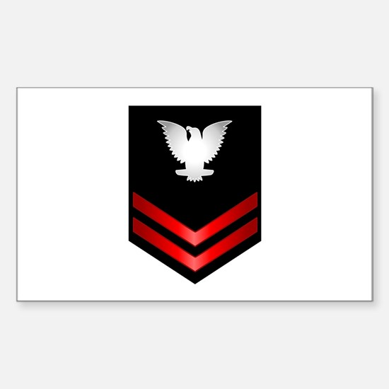 Navy PO2 Sticker (Rectangle)