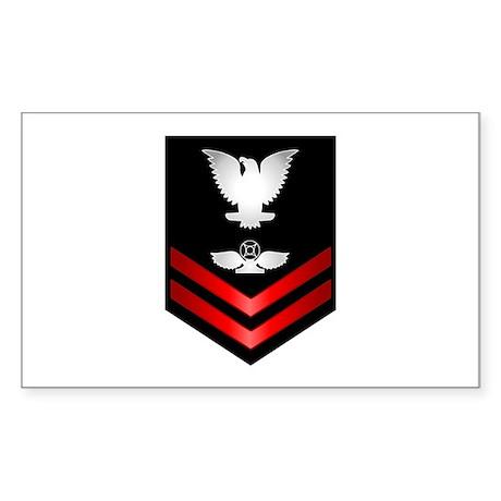 Navy PO2 Air Traffic Control Sticker (Rectangle)