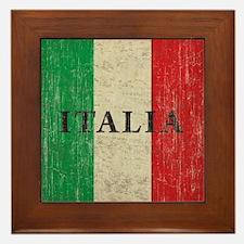 Vintage Italia Framed Tile