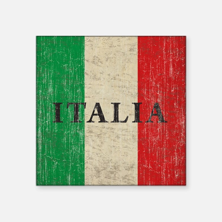 "Vintage Italia Square Sticker 3"" x 3"""