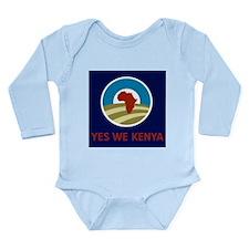 Yes We Kenya Long Sleeve Infant Bodysuit