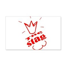 Bachelore party the stag red , in Red Wall Decal
