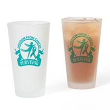 Freedom From Ovarian Cancer Shirts Drinking Glass