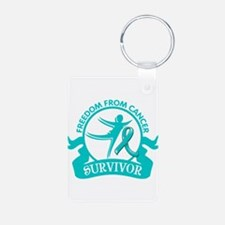 Freedom From Ovarian Cancer Shirts Keychains