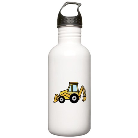 Cute Yellow Tractor Stainless Water Bottle 1.0L