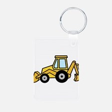Cute Yellow Tractor Keychains