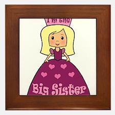 I'm The Big Sister Princess Framed Tile