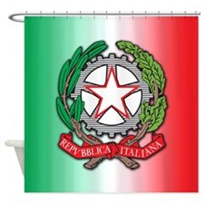 Italy Coat Of Arms Shower Curtain