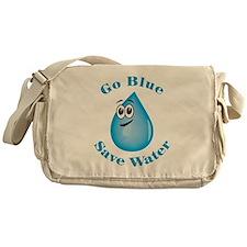 Go Blue - Save Water Messenger Bag