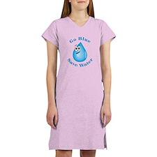 Go Blue - Save Water Women's Nightshirt