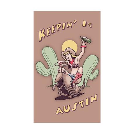 Keepin' It Austin Sticker (Rectangle)