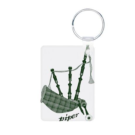PIPER (bagpipes design!) Aluminum Photo Keychain