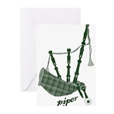 PIPER (bagpipes design!) Greeting Cards (Pk of 10)