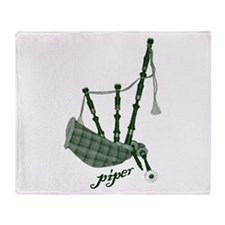 PIPER (bagpipes design!) Throw Blanket