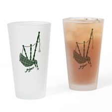 PIPER (bagpipes design!) Drinking Glass