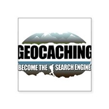 "GEOCACHING Square Sticker 3"" x 3"""