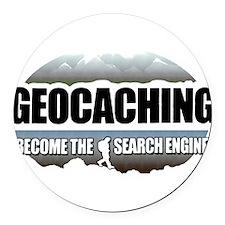 GEOCACHING Round Car Magnet
