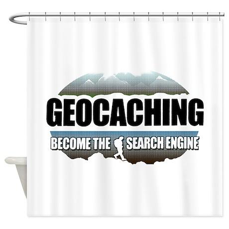 GEOCACHING Shower Curtain