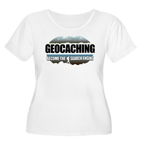 GEOCACHING Women's Plus Size Scoop Neck T-Shirt