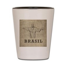 Vintage Christ The Redeemer Shot Glass