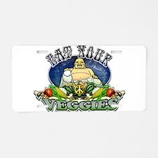 EAT YOUR VEGGIES Aluminum License Plate