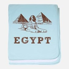 Vintage Egypt baby blanket