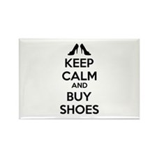 Keep calm and buy shoes Rectangle Magnet