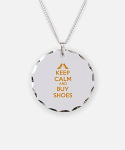 Keep calm and buy shoes Necklace