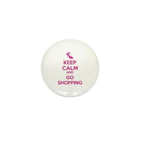 Keep calm and go shopping Mini Button