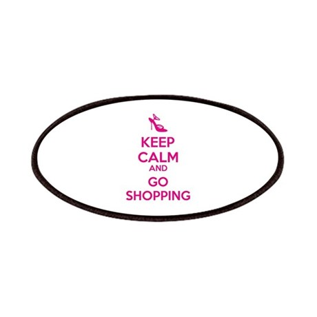 Keep calm and go shopping Patches