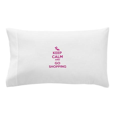 Keep calm and go shopping Pillow Case