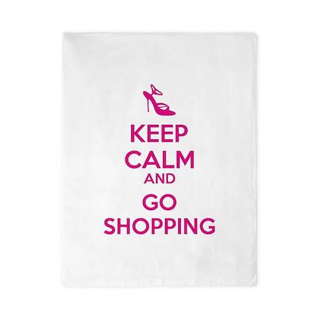 Keep calm and go shopping Twin Duvet