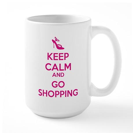 Keep calm and go shopping Large Mug