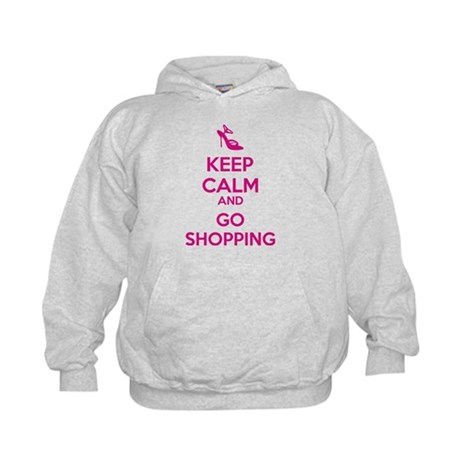 Keep calm and go shopping Kids Hoodie