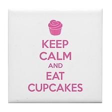 Keep calm and eat cupcakes Tile Coaster
