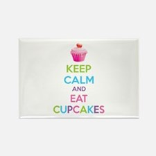 Keep calm and eat cupcakes Rectangle Magnet (10 pa