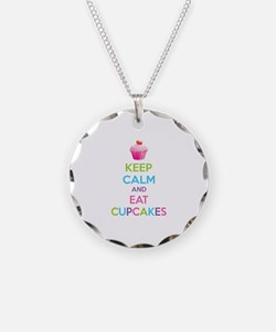 Keep calm and eat cupcakes Necklace
