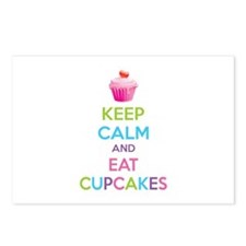 Keep calm and eat cupcakes Postcards (Package of 8