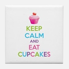 Keep calm and eat cupcakes Tile Coaster