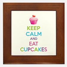 Keep calm and eat cupcakes Framed Tile