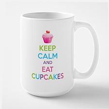 Keep calm and eat cupcakes Large Mug