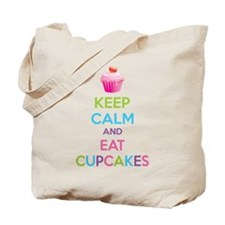 Keep calm and eat cupcakes Tote Bag