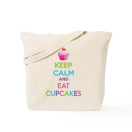 Keep calm and eat cupcakes Tote Bag