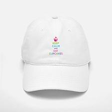 Keep calm and eat cupcakes Baseball Baseball Cap