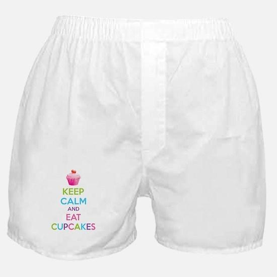 Keep calm and eat cupcakes Boxer Shorts