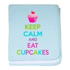 Keep calm and eat cupcakes baby blanket