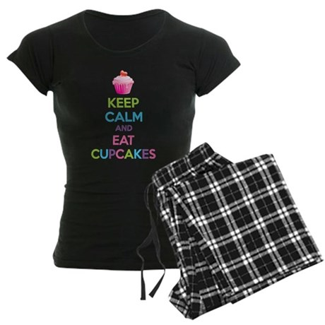 Keep calm and eat cupcakes Women's Dark Pajamas