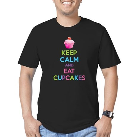 Keep calm and eat cupcakes Men's Fitted T-Shirt (d