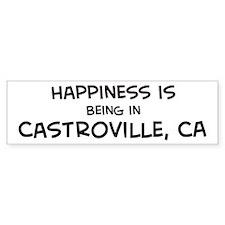 Castroville - Happiness Bumper Bumper Sticker