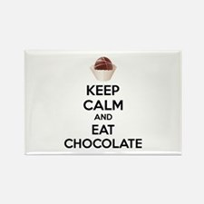 Keep calm and eat chocolate Rectangle Magnet (10 p